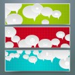 Speech bubbles Design — Stock Vector