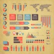 Retro infographics set. — Stock Vector