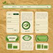 Eco style vector web template — Vector de stock