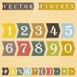 Vecteur: Numbers set.
