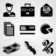 Stock Vector: Vector set of business icons.