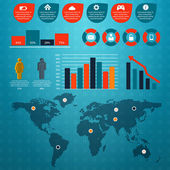 Retro infographics seti. — Stok Vektör