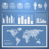 Infographics with a population — Stock Vector