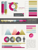 Retro infographics set. — Stock Vector