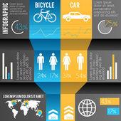 Infographics illustration of transportation — Stock Vector