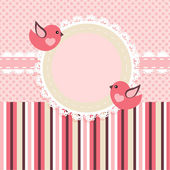 Vector frame with birds. — Stock Vector
