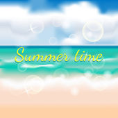 Summertime background with beach — Stock Vector