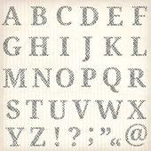 Vector alphabet. — Stock Vector