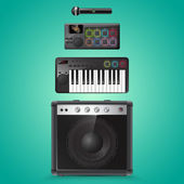 Sound equipment vector icons — Stock Vector