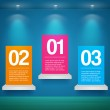 Vector set of banners with numbers — Stock Vector