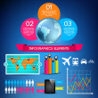 Set of infographic elements - Stock vektor