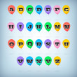Vector set of alphabet — Stock Vector