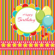 Happy birthday vector background — Stock Vector