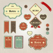 Set of vintage frames — Stock Vector