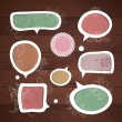 Speech bubbles .Vector set - Vettoriali Stock