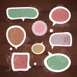Speech bubbles .Vector set - Stockvectorbeeld