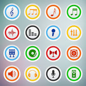 Vector set of sound icons. — Stock Vector