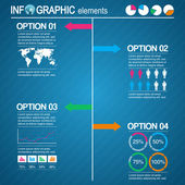 Set infographic elementen — Stockvector