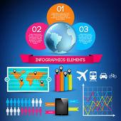 Conjunto de elementos de infografía — Vector de stock