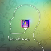 Vector live with music — Stock Vector
