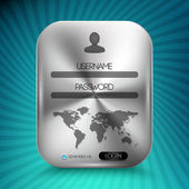 Vector username and password interface — Stock Vector