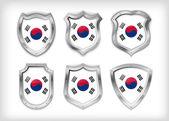 South Korea vector shield — Stock Vector