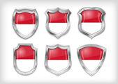 Indonesian shield vector — Stock Vector