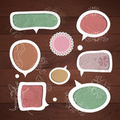 Speech bubbles .Vector set — Vetor de Stock