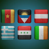 Flags set vector — Stock Vector