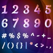 Set numbers vector — Stock Vector