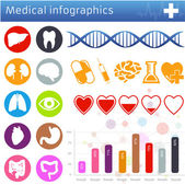 Medical icons and symbols vector set — Cтоковый вектор