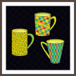 Vector set of cups — Imagen vectorial