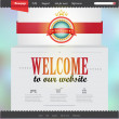 Vector Website Design Template — Imagen vectorial