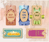 Vector set of labels for sale — Stock Vector