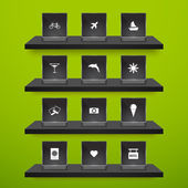 Set of travel icons — Vector de stock