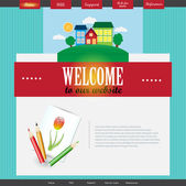 Vector Website Design Template — Vector de stock