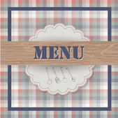 Vintage menu — Stock Vector