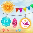 Summer sale badges and labels — Stock Vector #25553919