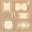 Vector set of vintage frame — Stock Vector