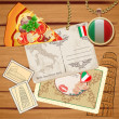 Vector set of travel to Italy - Stock Vector