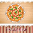 Stock Vector: Pizza menu template.