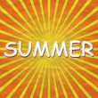 Yellow background with the word summer — 图库矢量图片