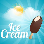 Ice cream background. — Stock Vector