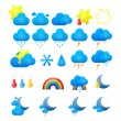 Vector weather icons set — Stock Vector #25662487