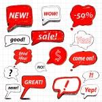 Vector set of speech bubbles for sale — Stock Vector