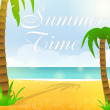 Summer time. — Vector de stock #25662545