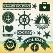 Stock Vector: Summer holiday icons.