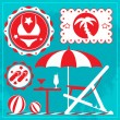 Royalty-Free Stock Vector Image: Summer holiday icons.