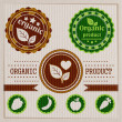 vintage bio and eco labels — Stock Vector