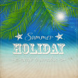 Vector de stock : Summer grunge textured background